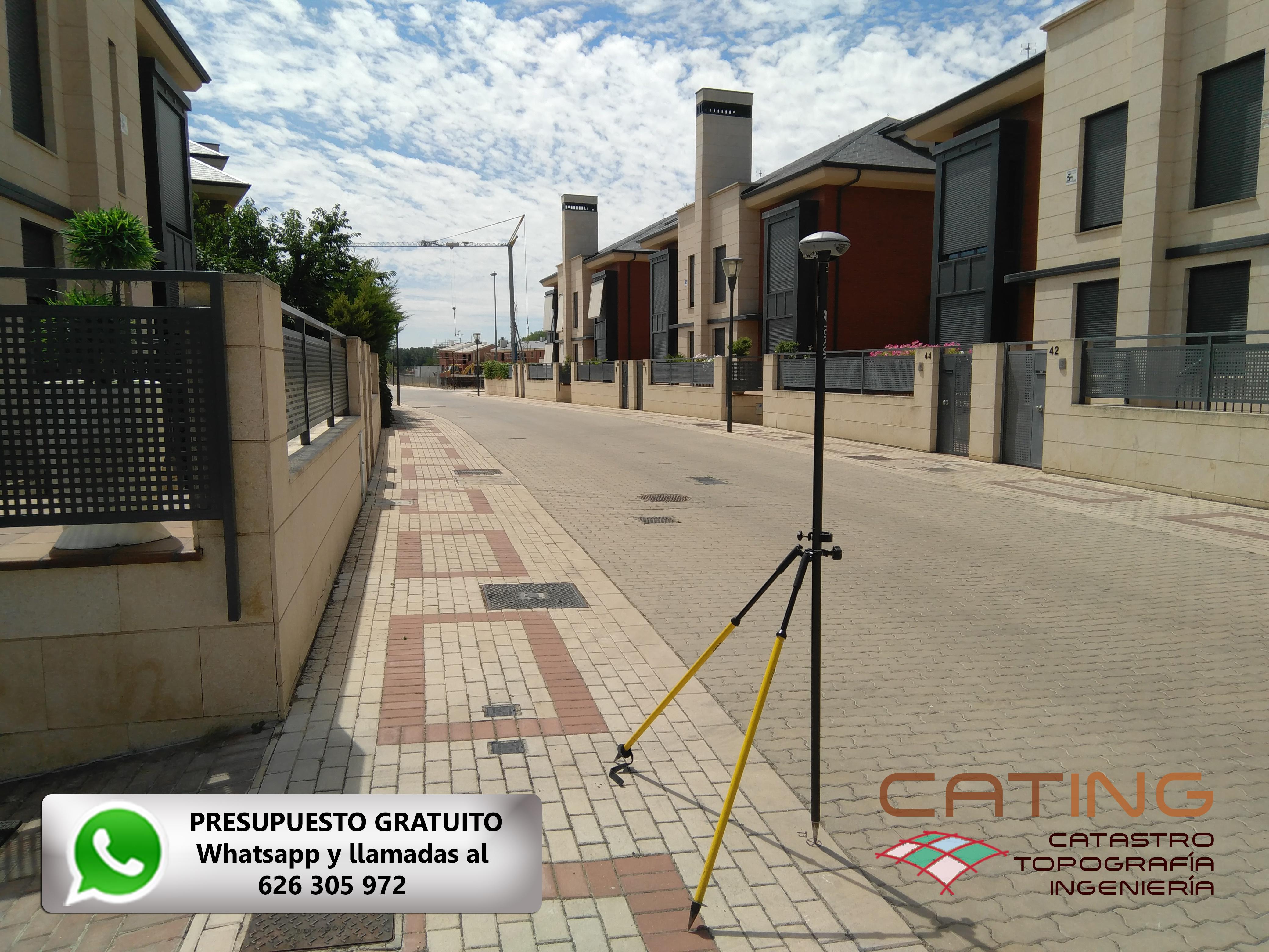Medición topográfica de parcela en Palencia. CATING Catastro Topografia e Ingeniería.