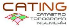 Topografía. CATING Catastro Topografía e Ingeniería.
