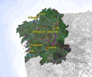 Visor cartográfico de Galicia