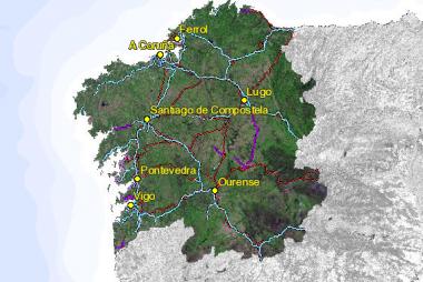 Cartografía de Galicia. CATING Catastro Topografía e Ingeniería.